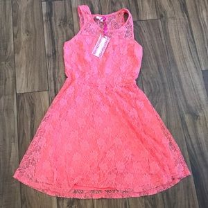 Coral Lacy Dress